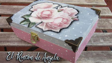 Caja de madera decorada con decoupage Diy Manualidades ...