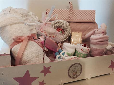 Caja de madera decorada para regalo de Babyshower niña ...