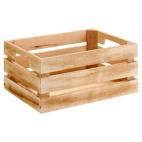 Caja de madera  L x An x Al: 33 x 23 x 15 cm, Natural ...