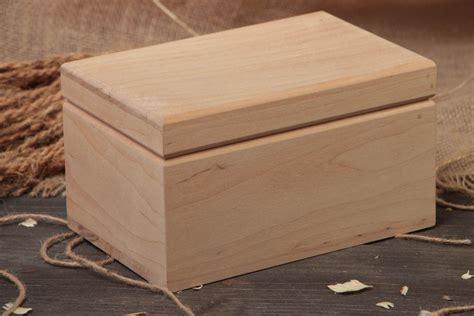 Caja de madera para decorar pieza en blanco para ...