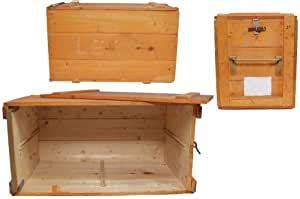 Caja de madera para transporte, 40 x 79 cm, color naranja ...