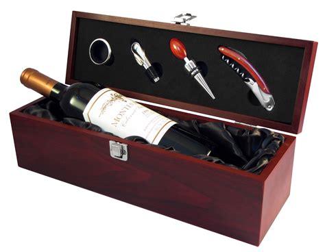 Caja de Madera para Vino 4 Accesorios – Kaichile Regalos ...