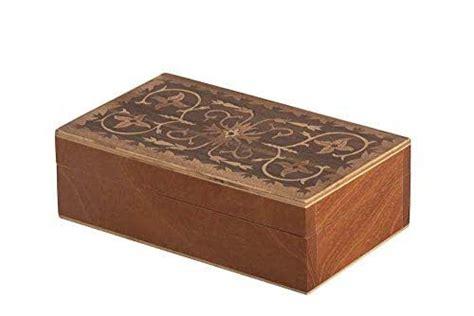 Caja de madera taraceada: Amazon.com.mx: Handmade
