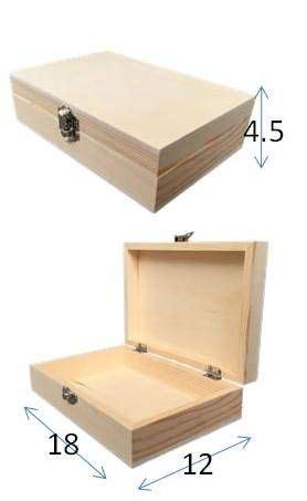 Caja de pino y contrachapado 18x12x4.5 cm | TOPAZ ...
