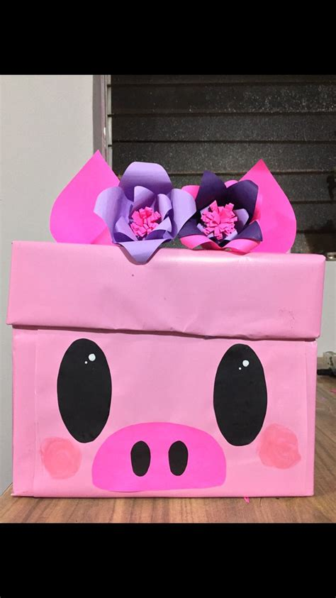 Caja de regalo cerdito   Regalos creativos, Cajas de ...