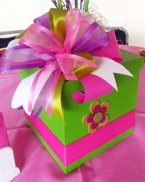 caja de regalo con colores neones   Hacer cajas de regalo ...