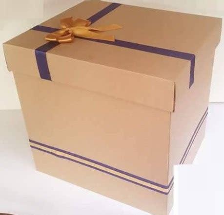 Caja De Regalo De Cartón Corrugado 35x35x30 Decorada   S ...
