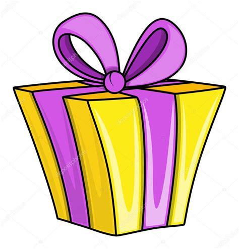 Caja de regalo de dibujos animados   ilustraciones ...