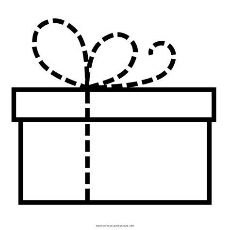 caja de regalo Página Para Colorear | Caja de regalo ...