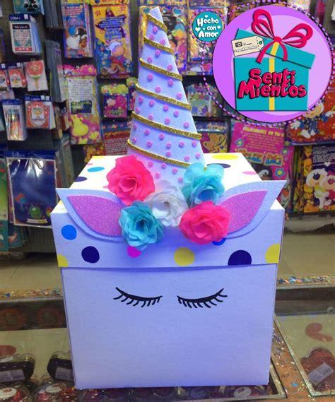 Caja de unicornio   Cajas de regalo decoradas, Regalos de ...