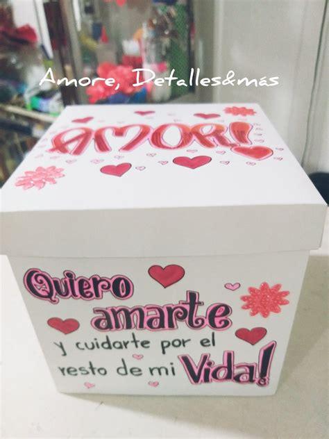 Caja decorada amor   Cajas decoradas, Cajas de regalo ...