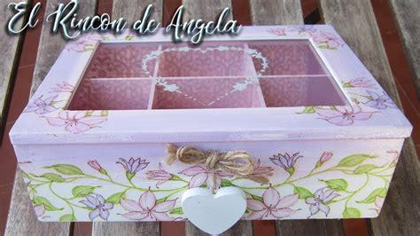Caja decorada con decoupage y pintura en degradado. Diy ...