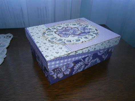 Caja decorada con decoupage y tapa calada | Cajas ...