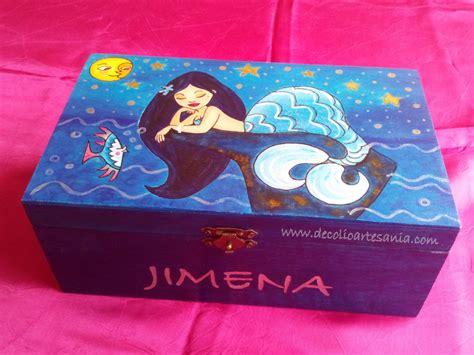 Caja decorada, personalizada, pintada a mano y pirograbada ...