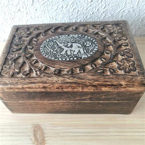 Caja decorativa de madera figura Elefante   ArteShop