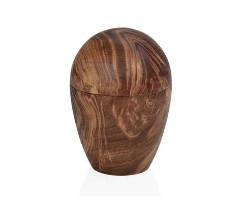 Caja decorativa huevo de madera de mango marrón, Ø15x21 cm ...