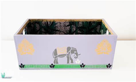 Caja decorativa vintage madera   Artesanum