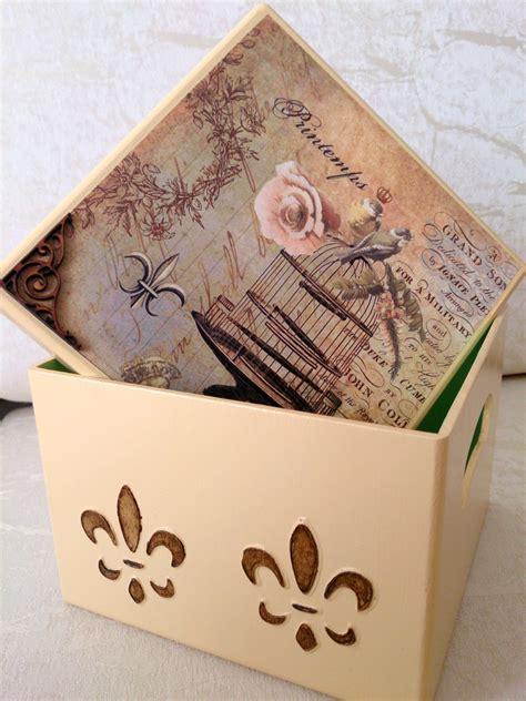 Caja Decorativa Vintage Técnicas Mixtas en Madera   Caixas ...