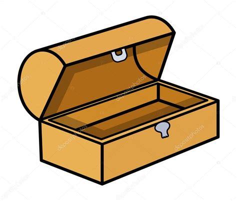Caja del tesoro vacío   ilustración vectorial de dibujos ...