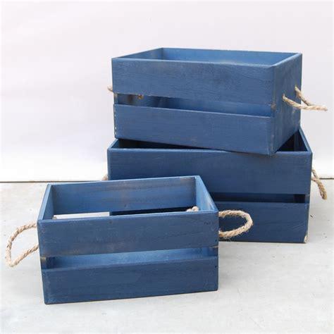 Caja madera Azul pequeña   OhZar