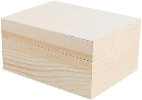 Caja madera de pino macizo y chapa rectangular Manualidades 2
