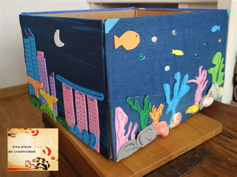 Caja papelera decorada a mano ¡te va a encantar!