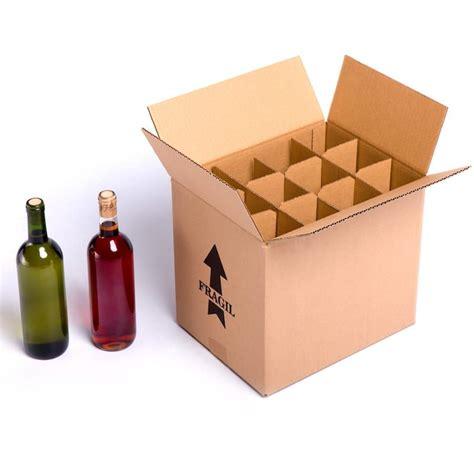 Caja para 12 botellas de vino CON Separadores de Cartón