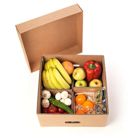 Caja para fruta y verdura con tapa y separadores