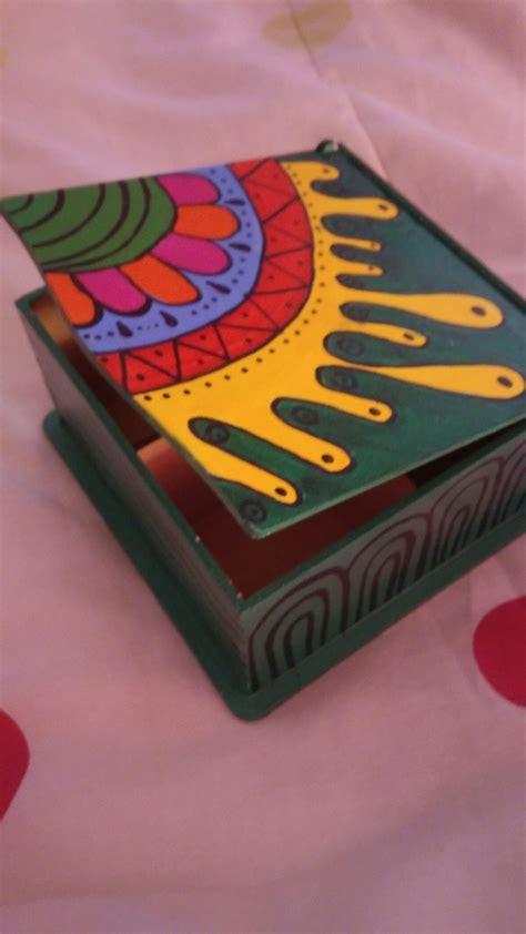 Caja para te pintada a mano | Cajas pintadas, Caja pintada ...