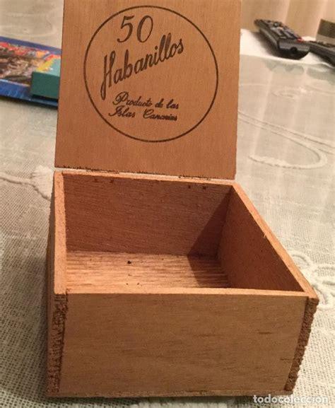 caja pequeña de madera vacia de 50 habanillos   Comprar ...