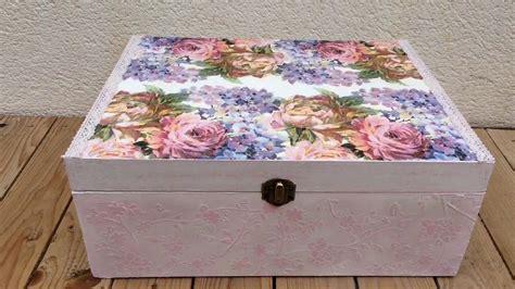 Caja vintage con decoupage y relieve   YouTube
