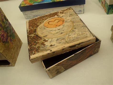 Caja Vintage Decoracion Decoupage Con Servilleta   $ 185 ...