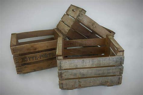 Cajas Antiguas de fruta para Decorar   Pack de 3 Cajas ...