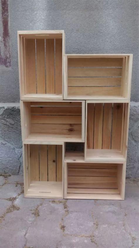 Cajas De Madera De Pino Tipo Huacal   $ 130.00 | Muebles y ...