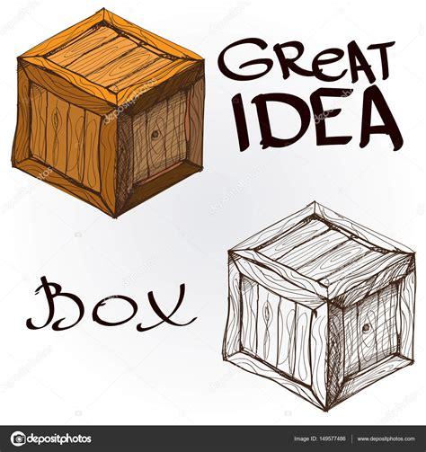 Cajas de madera de tablas — Vector de stock  filkusto ...
