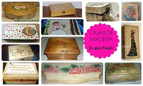 CAJAS DE MADERA DECORADAS   Manualidades