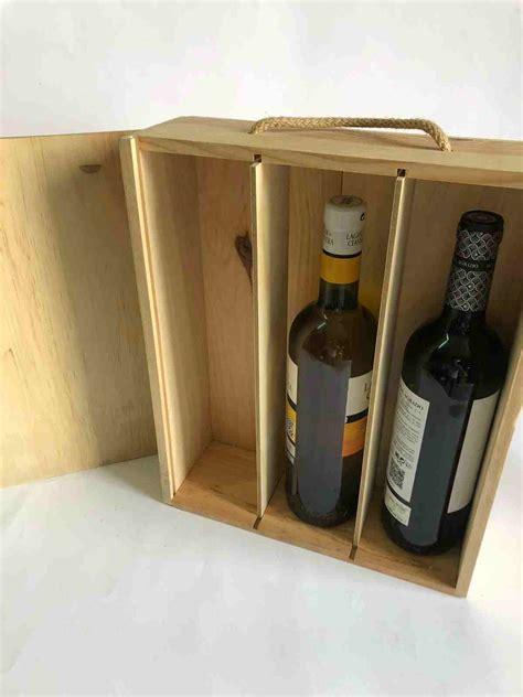 Cajas de madera para 3 botellas de vino   Cajas de vino