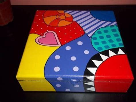 Cajas De Madera Pintadas A Mano   $ 75,00 | Cajas de ...