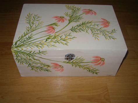 Cajas de madera pintadas con flores   Imagui