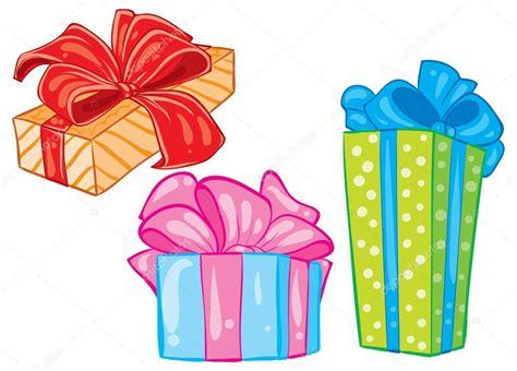 Cajas de regalo de dibujos animados Imagen Vectorial de ...