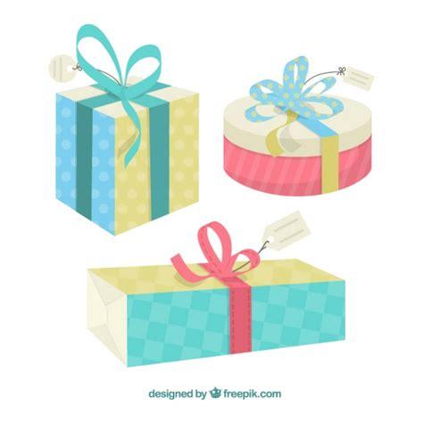 Cajas de regalo de dibujos animados   Vector Gratis