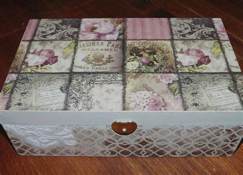 Cajas decoradas estilo vintage   Isabel Vintage