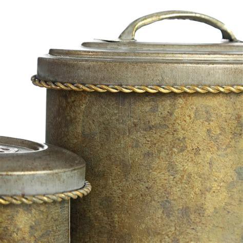 Cajas decorativas rústicas doradas de metal para salón ...