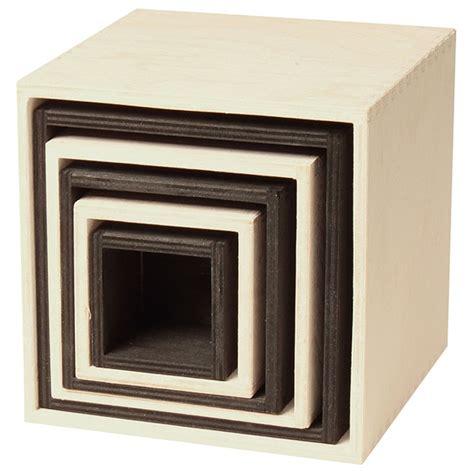 Cajas grandes apilables de madera   Blanco y Negro ...
