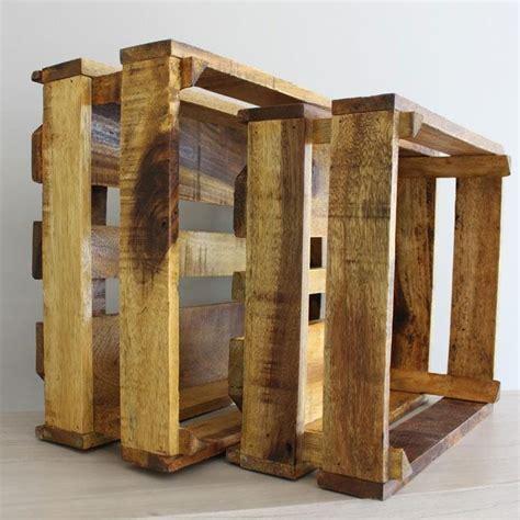 Cajas grandes de madera reciclada   Mon Deco Shop