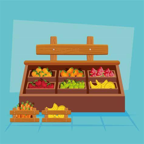 Cajas Madera Fruta Vectores Libres de Derechos   iStock