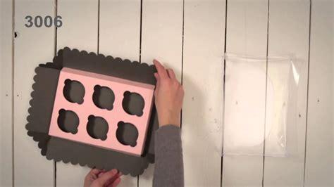 Cajas para 6 Cupcakes   Vídeo de montaje ref. 3006 ...