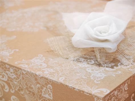 Cajas para guardar vestidos de novia papel kraft encaje ...