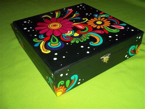 Cajas pintadas a mano de madera   Imagui