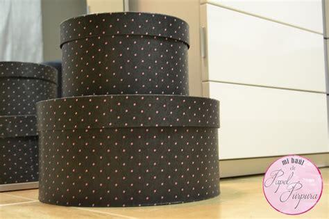 Cajas redondas muy Chic!!   Mi baul de papel Purpura ...